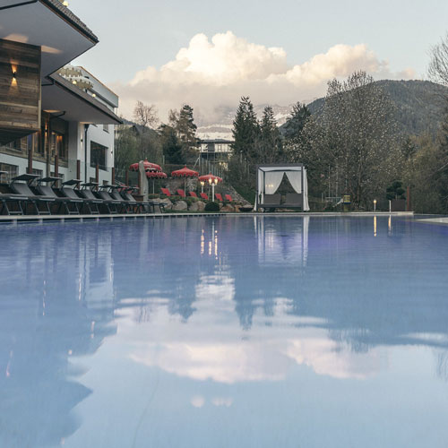 Familienhotel Engel gourmet & spa, Outdoorpool Winter