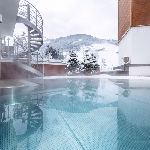 Familienhotel Galtenberg Family Wellness Resort, Outdoorpool Winter