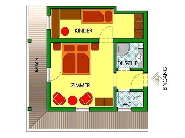 Familienhotel, Habachklause, Familienappartement, Grundriss