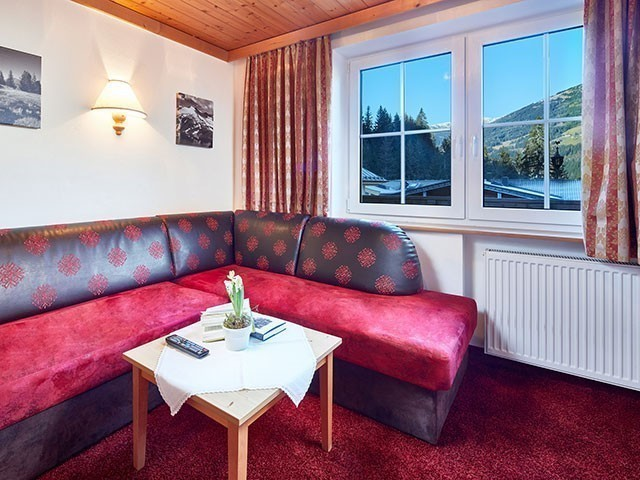 Familienhotel, Habachklause, Familienappartement, Wohnzimmer