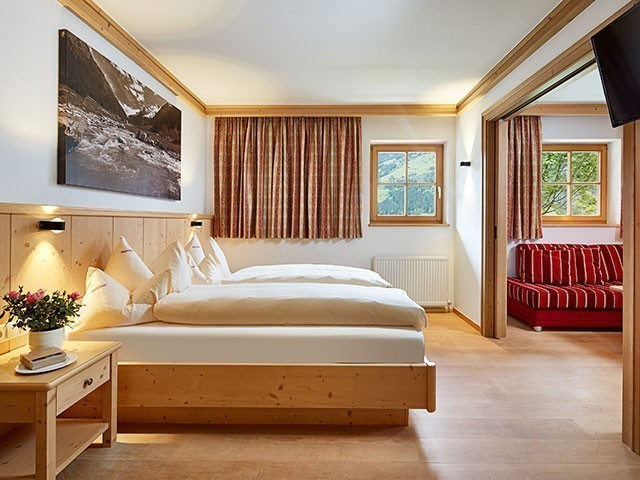 Familienhotel, Habachklause, Familienappartement, Schlafzimmer