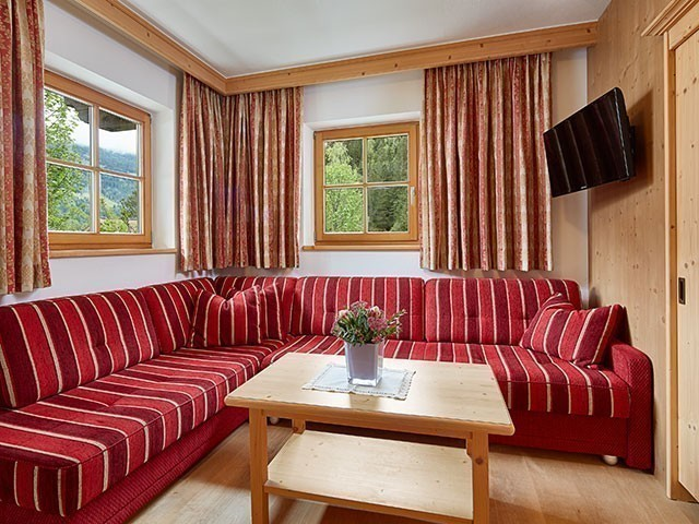 Familienhotel, Habachklause, Familienappartement, Wohnbereich