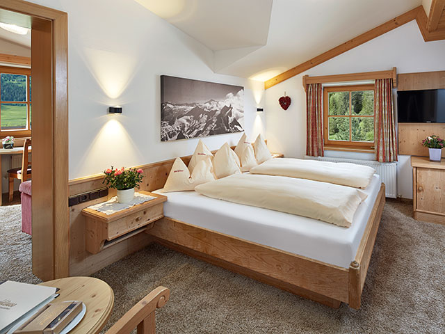 Familienhotel Habachklause, Schlafzimmer