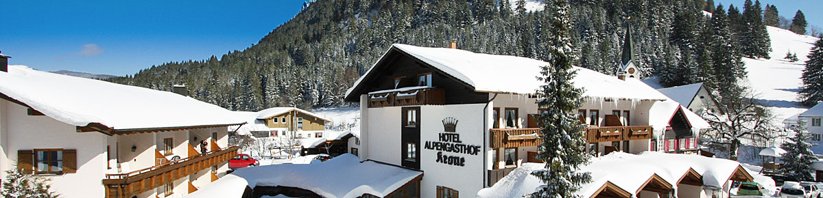 Familien-Resort Krone, Allgäeu im Winter