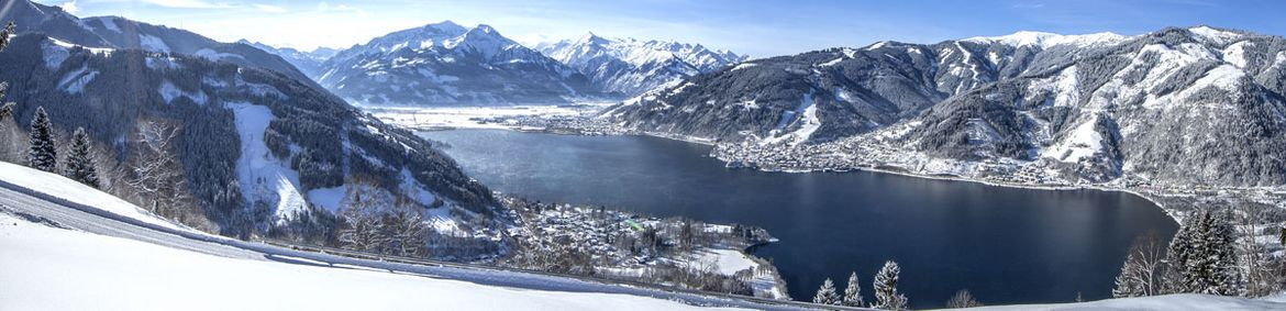 Familienurlaub Zell am See, Berge See Winter